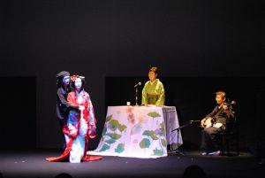 浪曲師と人形師のコラボレーション「椿太夫」